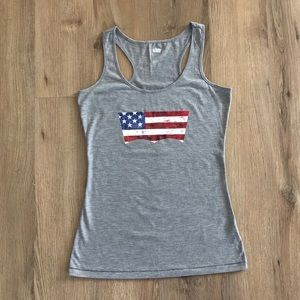 Levi's Gray Tank Top with American Flag